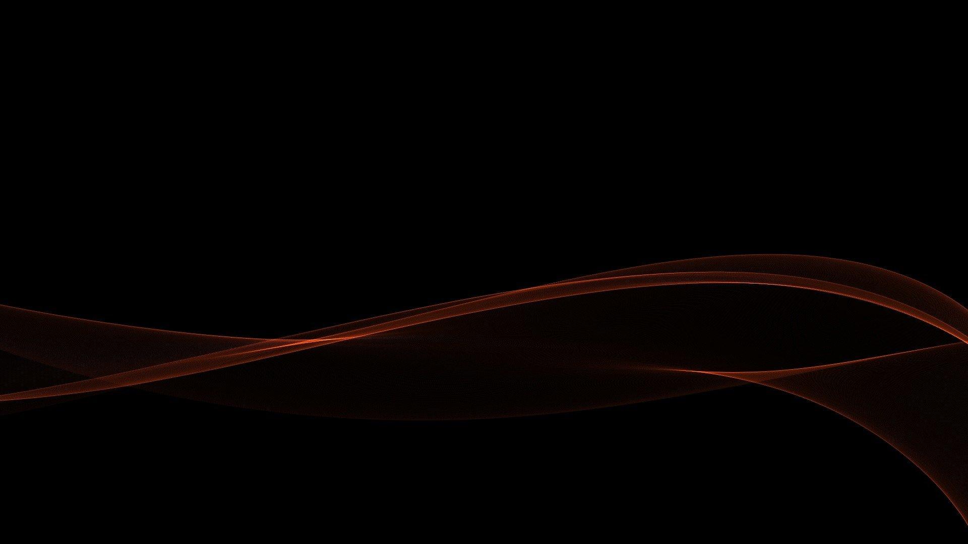 Red Gradient Minimalistic Waves Black Abstract Wallpaper Desktop